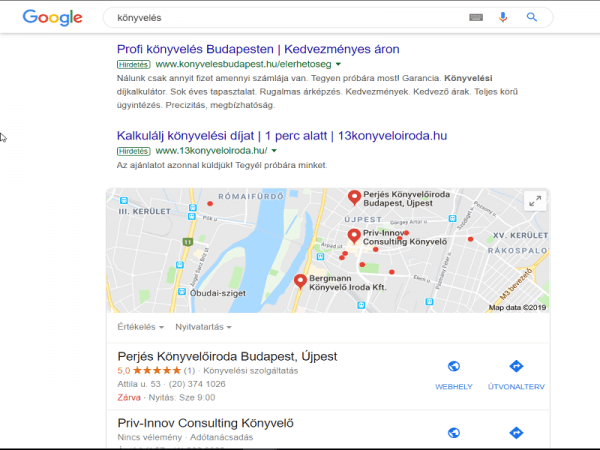 google cégem fiók belépés